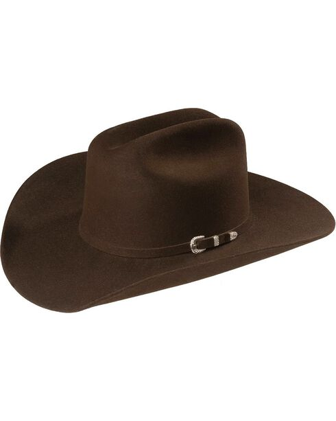 Justin 4X Cody Fur Felt Western Hat, Brown, hi-res