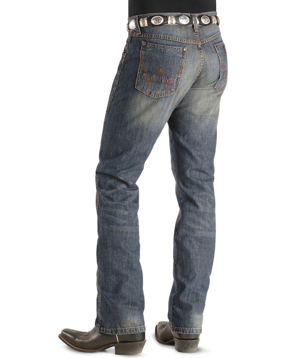 Wrangler Retro Men's Slim Straight Jeans, Dark Rinse, hi-res