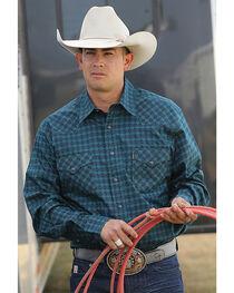 Cinch Men's Green Print Modern Fit Western Long Sleeve Shirt , , hi-res