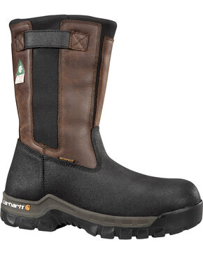 Carhartt Men's Insulated Wellington Boots - Steel Toe, Black, hi-res