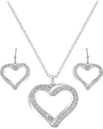 Montana Silversmiths Women Entwined Hearts Jewelry Set, , hi-res