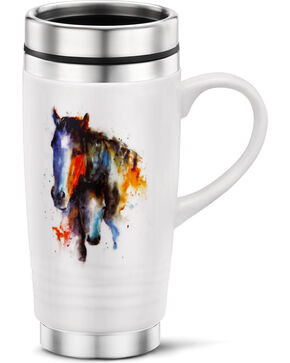Big Sky Carvers Painted Horses Portrait Mug, White, hi-res