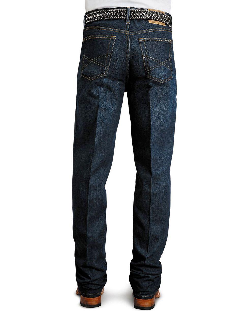Stetson Men's Premium Standard Fit Boot Cut Jeans, Dark Rinse, hi-res