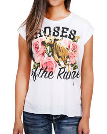 Rodeo Quincy Women's Roses of the Range Graphic Tee, , hi-res
