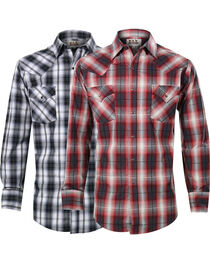Ely Cattleman Men's Assorted Premium Plaid Long Sleeve Shirt, , hi-res