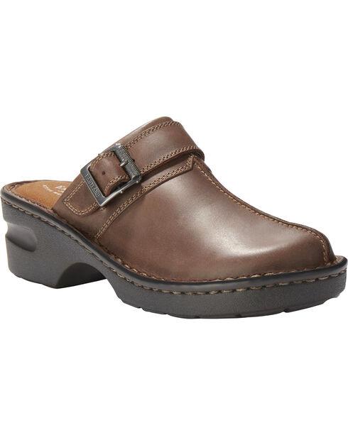 Eastland Women's Mae Clog Slip Ons, Brown, hi-res