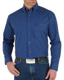 Wrangler George Strait Men's Checkered Print Long Sleeve Shirt, , hi-res