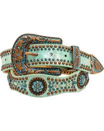 Nocona Women's Scallop Round Concho Studded Belt, , hi-res