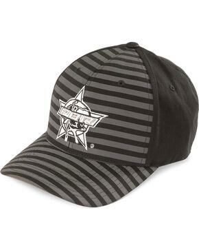 PBR Men's Flex Fit Stripe Ball Cap, Black, hi-res