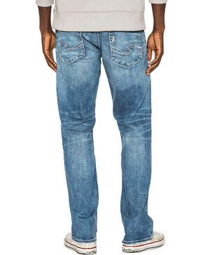Silver Men's Grayson Easy Fit Straight Leg Jeans, Indigo, hi-res