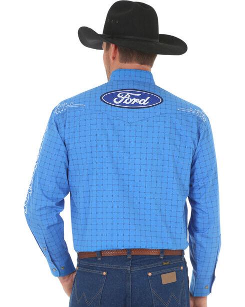Wrangler Men's Blue Ford Logo Western Shirt , Blue, hi-res