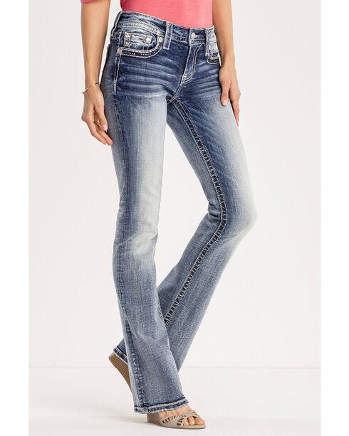 Miss Me Women's Indigo Saddle Up Jeans - Boot Cut , Indigo, hi-res