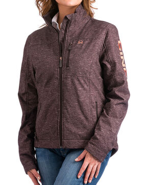 Cinch Women's Conceal Carry Softshell Jacket, Brown, hi-res
