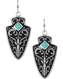 Montana Silversmiths Women's Filigree Arrowhead Earrings , , hi-res