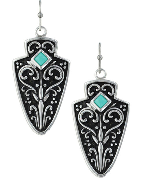 Montana Silversmiths Women's Filigree Arrowhead Earrings , Silver, hi-res