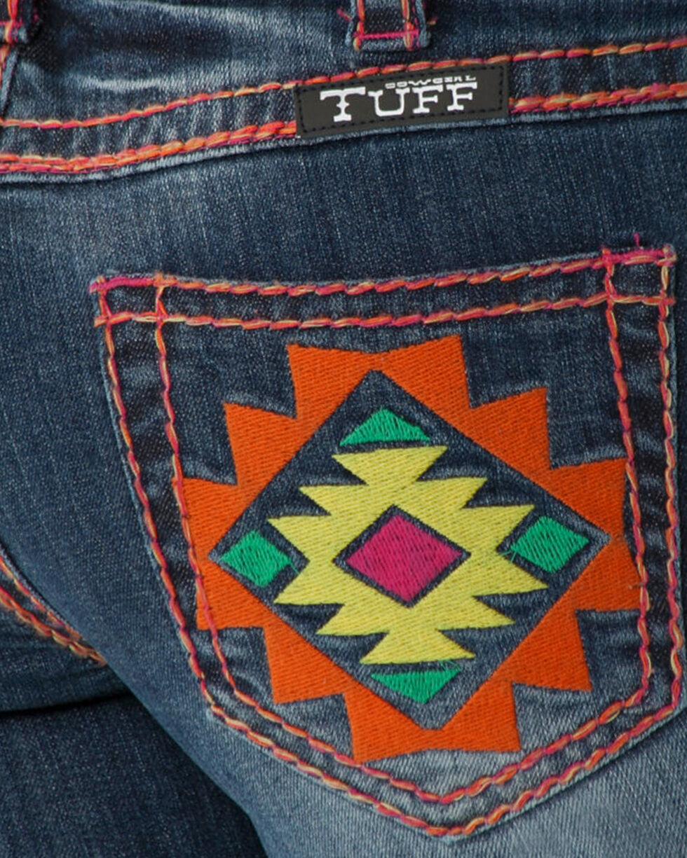 Cowgirl Tuff Women's Southwest Vibe Boot Cut Jeans , Blue, hi-res