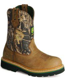 John Deere® Johnny Popper Children's Leather Wellington Western Boots, , hi-res