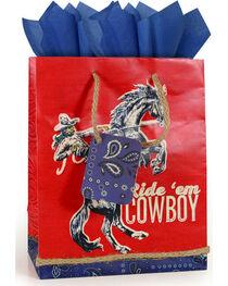 BB Ranch® Ride 'em Cowboy Gift Bag with Tissue Paper, , hi-res