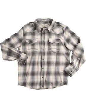 Cody James Men's Grey Kodiak Plaid Long Sleeve Shirt, Grey, hi-res