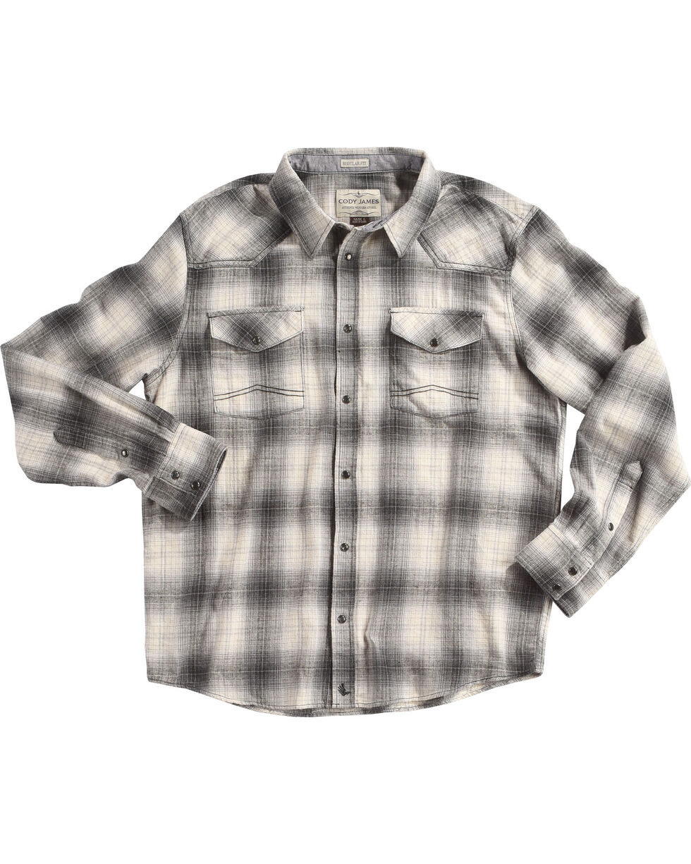 Cody James Men's Grey Kodiak Plaid Long Sleeve Shirt - Big & Tall, , hi-res