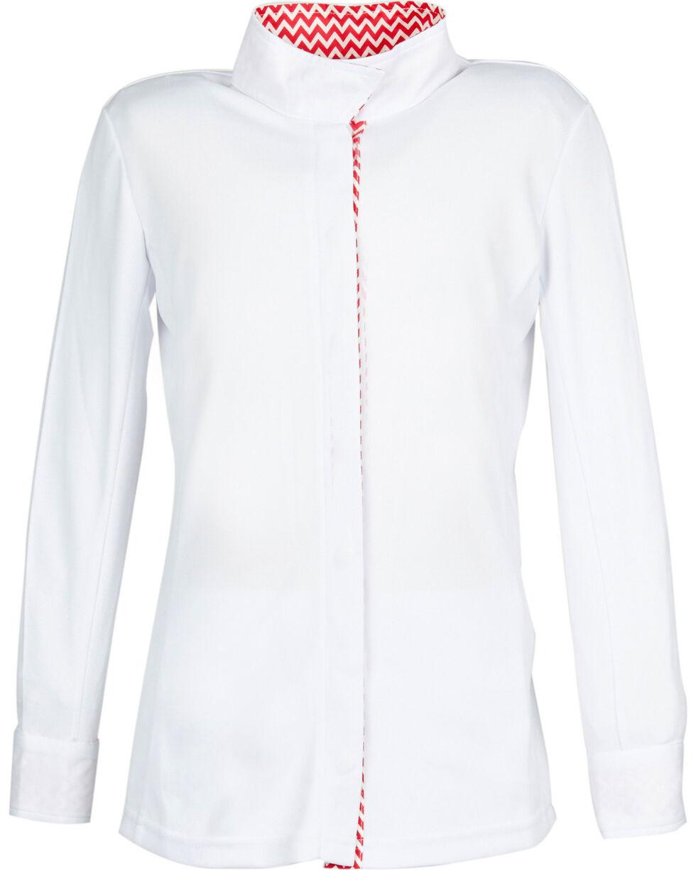 Dublin Kids' Comfort Dry Long Sleeve Show Shirt, Pink Stripe, hi-res