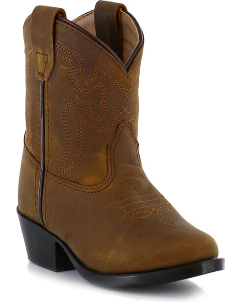 Cody James® Toddler Round Toe Western Boots, Brown, hi-res