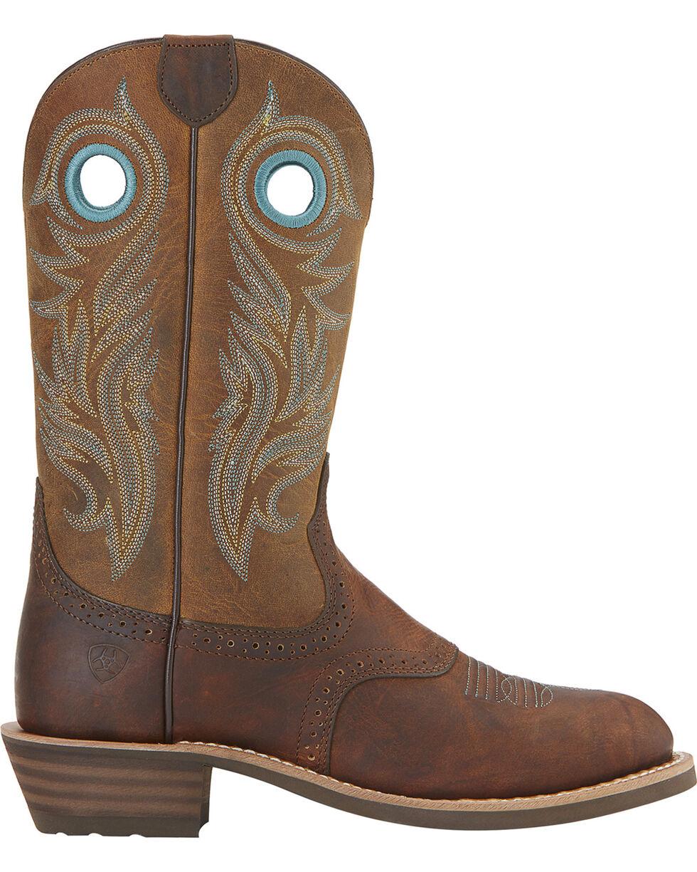 Ariat Women's Shadow Rider Round Toe Western Boots, Brown, hi-res