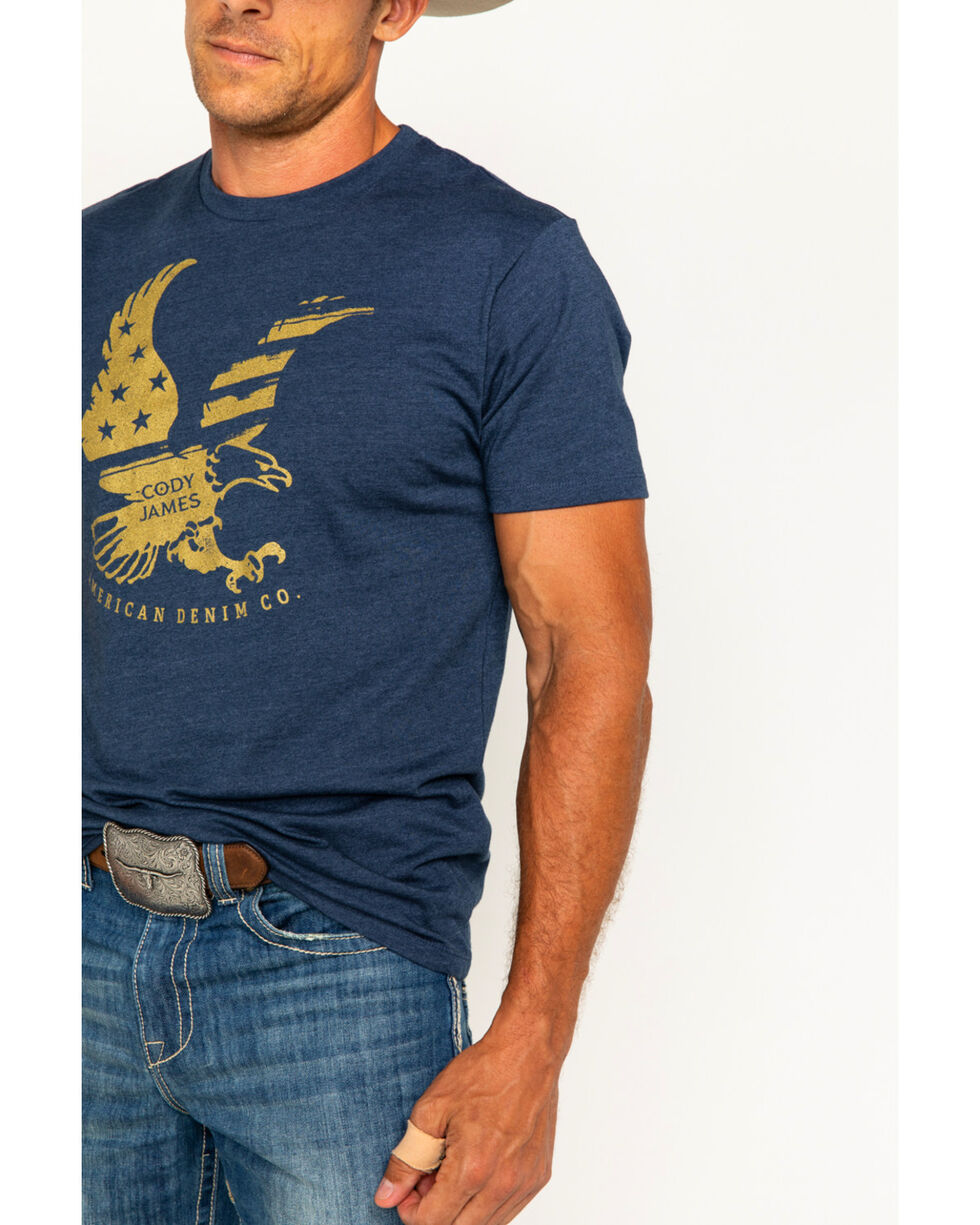 Cody James Men's Eagle Flag Short Sleeve T-Shirt, Navy, hi-res