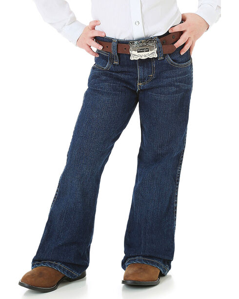 Wrangler Girl's Premium Patch Jeans, Blue, hi-res