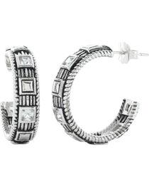 Montana Silversmiths Studded Ice Hoop Earrings, , hi-res