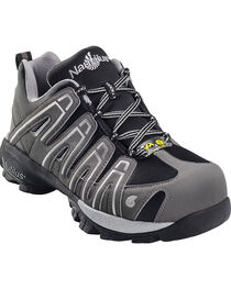Nautilus Men's ESD Composite Toe Lace Up Shoes, Grey, hi-res