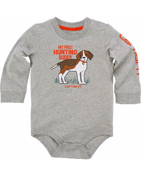 Carhartt Infant Boys' Hunting Buddy Bodyshirt, Grey, hi-res
