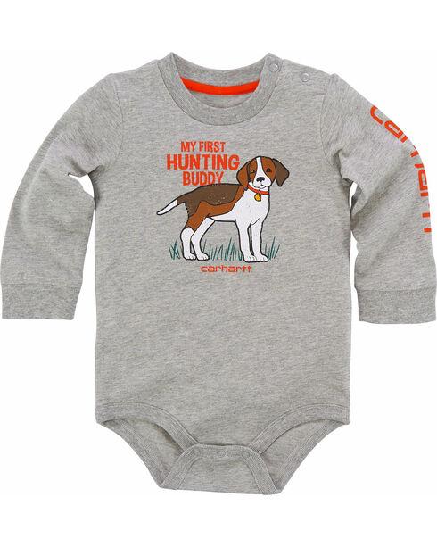 Carhartt Infant Boys' Hunting Buddy Bodyshirt, Grey, hi-res