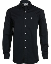 Cinch Men's Black Modern Fit Long Sleeve Western Shirt , , hi-res