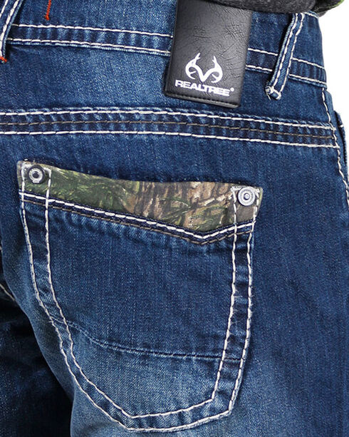 Realtree Men's Faded Boot Cut Jeans, Blue, hi-res