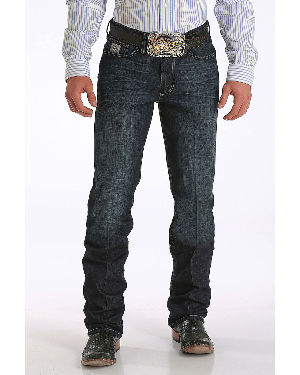 Cinch Men's Silver Label Performance Jeans - Straight Leg , Indigo, hi-res