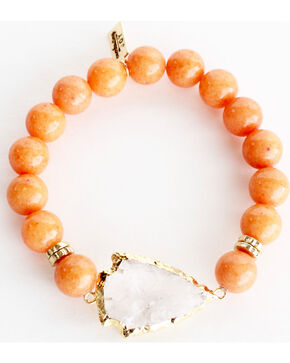 Everlasting Joy Jewelry Women's Tangerine Arrowhead Bracelet , Orange, hi-res