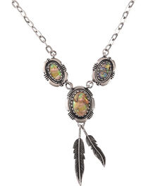 Shyanne Women's Mother of Pearl Feather Necklace, , hi-res