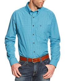 Ariat Men's Leland Plaid Western Shirt, , hi-res