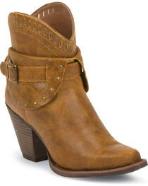 Justin Women's Cut-Out Western Booties, , hi-res