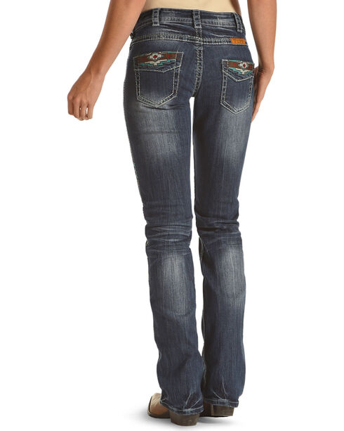 Cowgirl Tuff Women's Blue Southwest Rocker Jeans - Boot Cut , Blue, hi-res