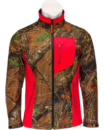 Trail Crest Women's Neon Coral Waterproof and Windproof Custom XRG Soft Shell Ja, , hi-res