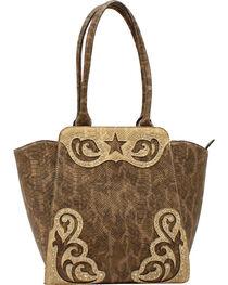Blazin Roxx Women's Snake Skin Star Large Shoulder Bag, , hi-res