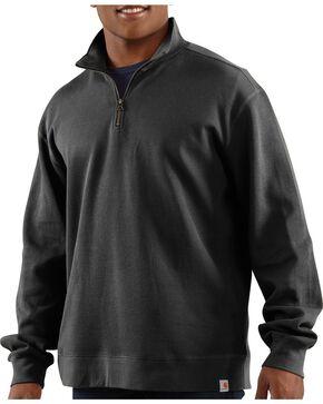 Carhartt Men's Quarter Zip Sweatshirt, Black, hi-res