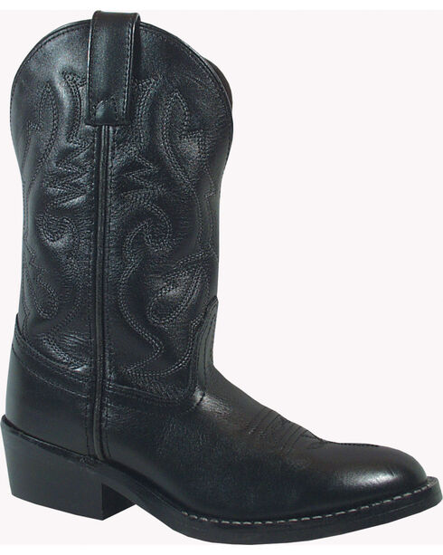 Smoky Mountain Toddler Boys' Denver Western Boots - Round Toe, Black, hi-res