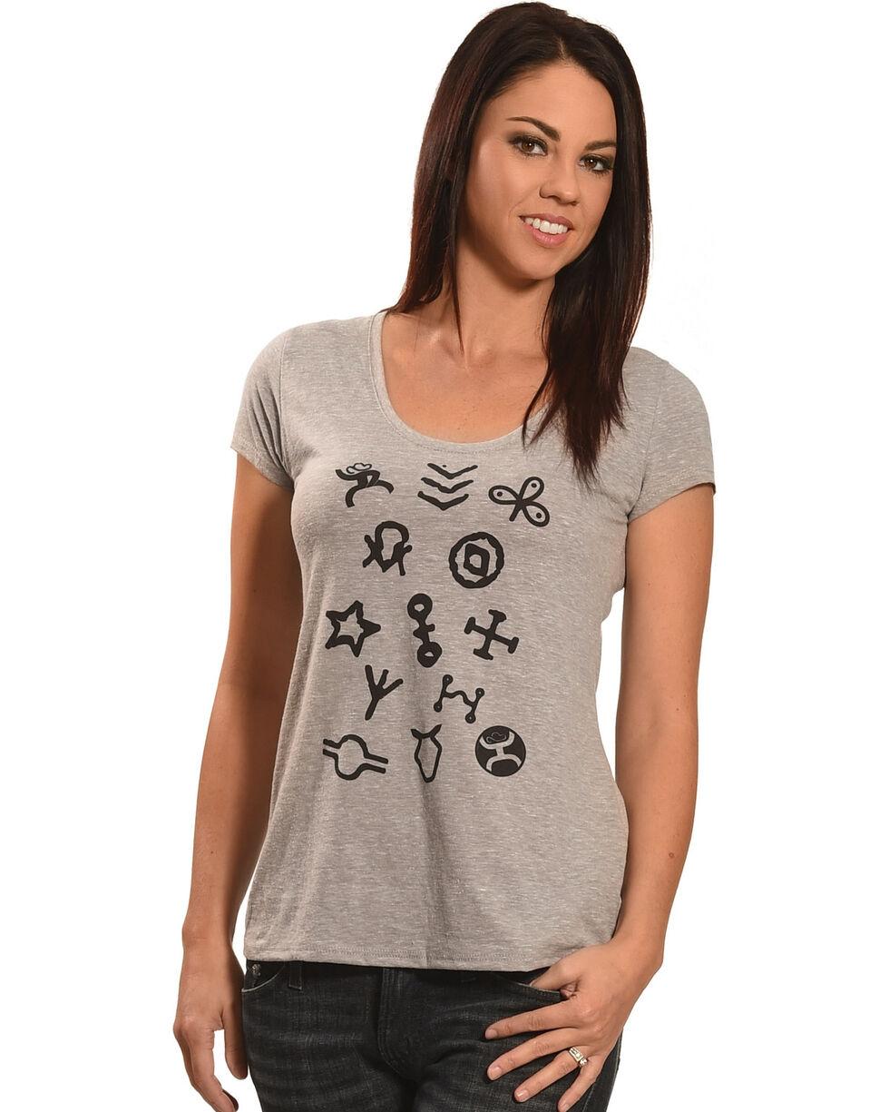 Hooey Women's Grey Branding Irons T-Shirt , , hi-res
