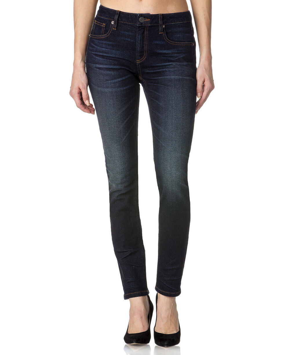 Miss Me Women's Indigo Simple Jeans - Skinny , , hi-res
