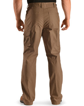 American Worker Men's Flagstone Stretch Mini-Ripstop Utility Pants, Brown, hi-res