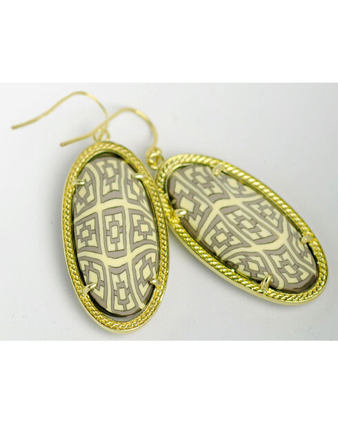 Jilzarah Prairie Gold Frame Earrings, Prairie, hi-res