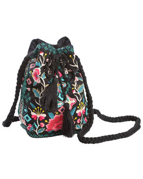 Johnny Was Women's Peta Bucket Bag , Black, hi-res